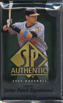 2009 Upper Deck SP Authentic Baseball Hobby Pack