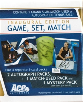 2009 Ace Inaugural Edition Game, Set, Match Tennis Hobby Box