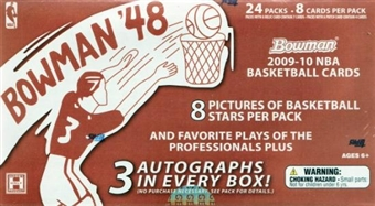 2009/10 Bowman '48 Basketball Hobby Box