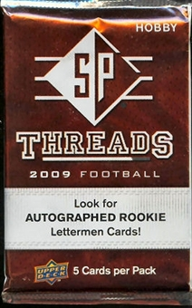 2009 Upper Deck SP Threads Football Hobby Pack