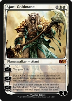 Magic the Gathering 2010 Single Ajani Goldmane - MODERATE PLAY (MP)