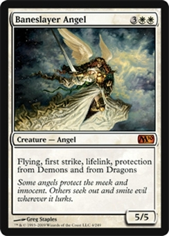 Magic the Gathering 2010 Single Baneslayer Angel FOIL NEAR MINT (NM)
