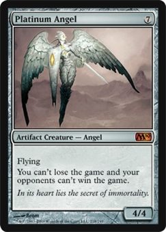 Magic the Gathering 2010 Single Platinum Angel FOIL