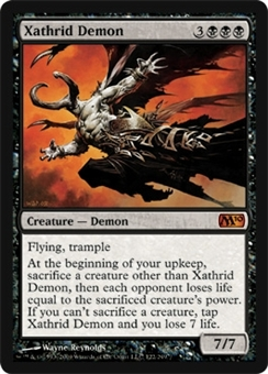 Magic the Gathering 2010 Single Xathrid Demon - SLIGHT PLAY (SP)