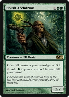 Magic the Gathering 2010 Single Elvish Archdruid UNPLAYED (NM/MT)