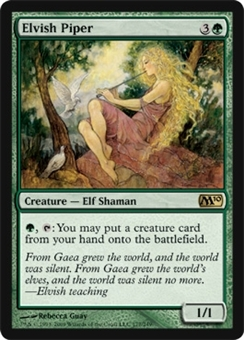 Magic the Gathering 2010 Single Elvish Piper Foil