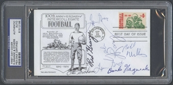 First Day Cover Signed by Multiple HOF's Nagurski Grange PSA/DNA *2198