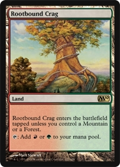 Magic the Gathering 2010 Single Rootbound Crag Foil