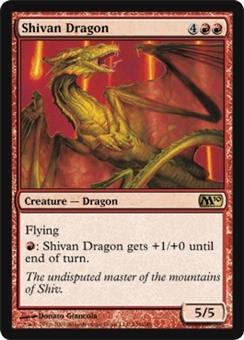 Magic the Gathering 2010 Single Shivan Dragon Foil