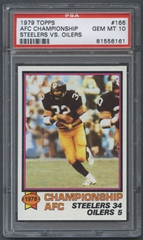 1979 Topps Football #166 AFC Championship (Steelers VS. Oilers) PSA 10 (GEM MT) *6161