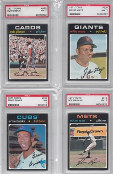 1971 Topps Baseball Complete Set (NM) With 10 PSA Graded