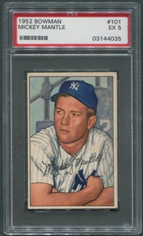 1952 Bowman Baseball Complete Set (EX) Mantle is Graded PSA 5