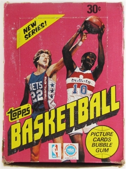 1981/82 Topps Basketball Wax Box