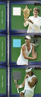 2009 Ace National Convention Federer Nadal Sharapova 3 Jersey Card Set