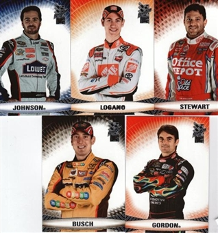2009 Press Pass Racing National Convention 5 Card VIP Set (50 Set Lot)