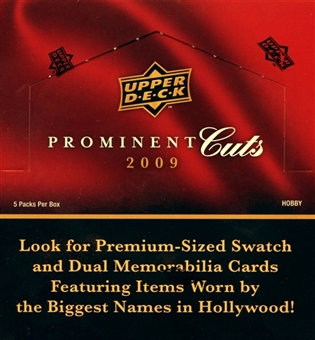 2009 Upper Deck Prominent Cuts Hobby Box
