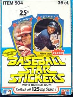 1981 Fleer Star Stickers Baseball Wax Box