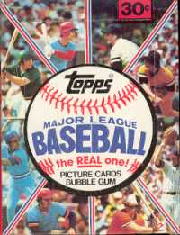 1981 Topps Baseball Wax Box (Mint Packs, Near-Mint Box)