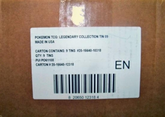 2009 Pokemon Legendary Collection 9-Tin Case