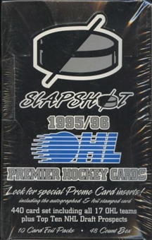 1995/96 Slapshot OHL Hockey Hobby Box