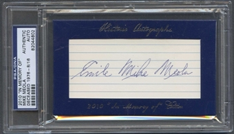2010 Historic Autograph Baseball Mike Meola Cut Auto #08/16