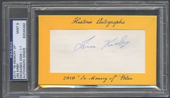 2010 Historic Autograph Baseball Jim Kirby Cut Auto #1/1