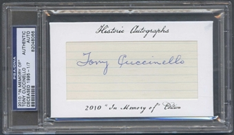 2010 Historic Autograph Baseball Tony Cuccinello Cut Auto #1/7