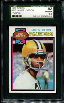 1979 Topps Football #310 James Lofton Rookie SGC 92 (NM/MT+ 8.5) *8018