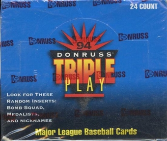 1994 Donruss Triple Play Baseball Jumbo Box