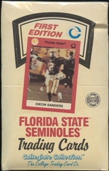 1990 Collegiate Collection Florida State Football Hobby Box
