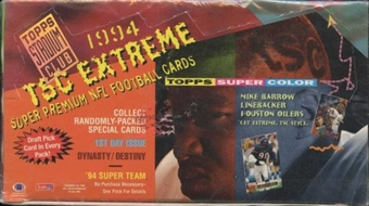 1994 Topps Stadium Club Series 1 Football Jumbo Box