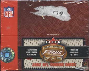 2002 Fleer Focus Jersey Edition Football 24 Pack Box