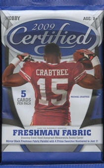2009 Donruss (Leaf) Certified Football Hobby Pack