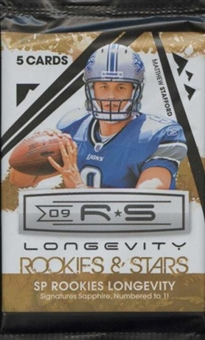 2009 Donruss Rookies & Stars Longevity Football Hobby Pack