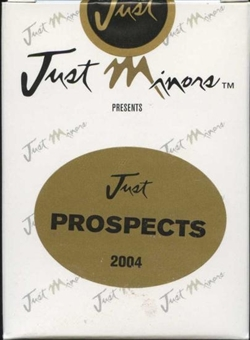 2004 Just Minors Just Prospects Baseball Factory Set (Box)
