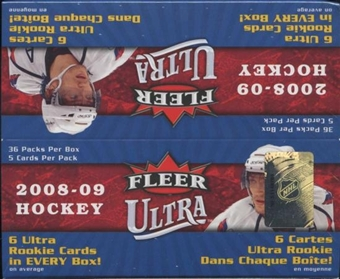 2008/09 Fleer Ultra Hockey 36-Pack Box