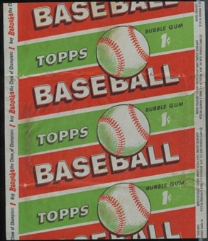 1955 Topps Baseball 1 Cent Wrapper