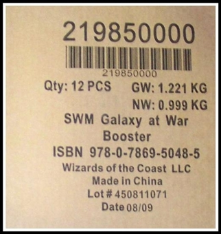 WOTC Star Wars Miniatures Galaxy at War Booster Case (12ct)