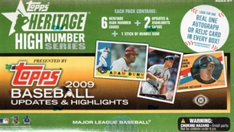 2009 Topps Heritage High Number Baseball Hobby Box