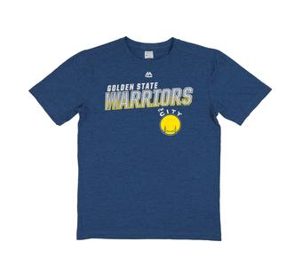 Golden State Warriors Majestic The City Big Timers Blue Performance Tee Shirt (Adult Medium)