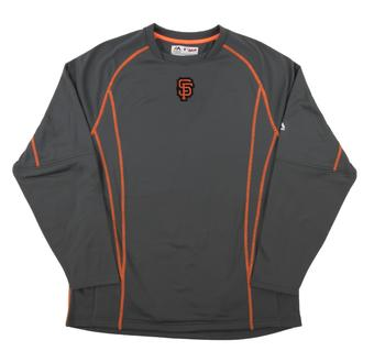 San Francisco Giants Majestic Grey Performance On Field Practice Fleece Pullover (Adult Large)