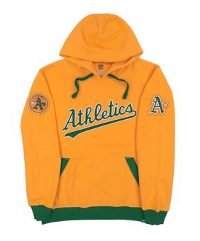 Oakland Athletics Majestic Gold Reach Forever Fleece Hoodie (Adult Large)