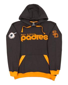 San Diego Padres Majestic Brown Reach Forever Fleece Hoodie (Adult Small)