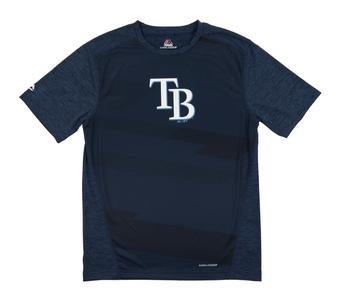 Tampa Bay Rays Majestic Navy Its Our Goal Performance Tee Shirt (Adult Small)