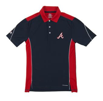 Atlanta Braves Majestic 10th Power Navy Performance Polo (Adult Small)