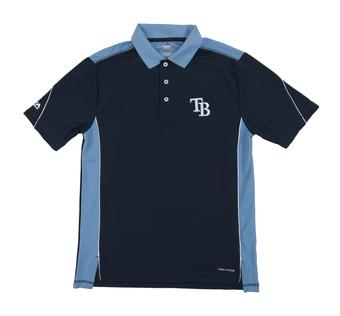 Tampa Bay Rays Majestic 10th Power Navy Performance Polo (Adult Large)