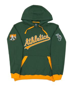 Oakland Athletics Majestic Green Third Wind Fleece Hoodie (Adult Medium)