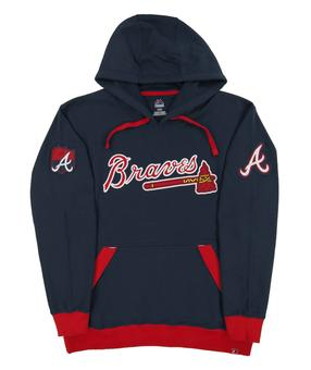 Atlanta Braves Majestic Navy Third Wind Fleece Hoodie (Adult Large)