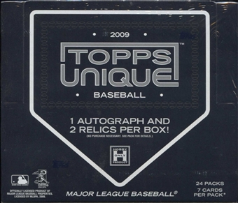 2009 Topps Unique Baseball Hobby Box