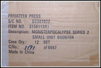 Monsterpocalypse Series 2 I Chomp NY Unit Booster 12-Pack Case (Privateer Press)